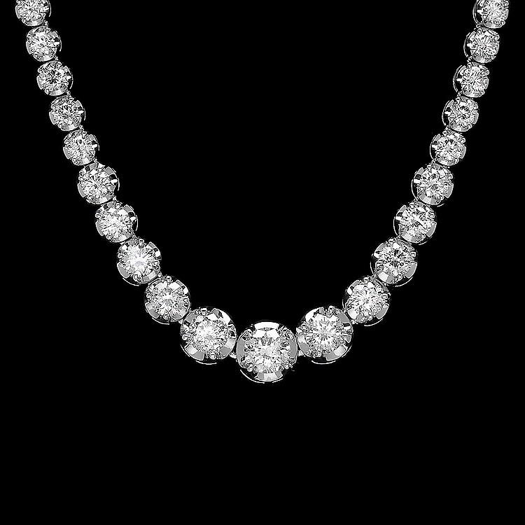 18k White Gold 9.20ct Diamond Necklace