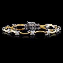 14K Two Tone 1.00ctw Diamond Bracelet