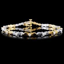 14K Two-Tone 0.50ctw Diamond Bracelet