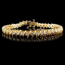 14K Yellow Gold 4.57ctw Diamond Bracelet