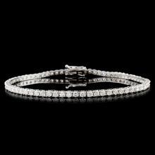 14K White Gold 5.00ct Diamond Tennis Bracelet