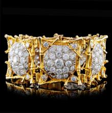 14K White/Yellow Gold 38ct Diamond Bracelet