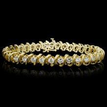 14K Yellow Gold 6.00ct Diamond Bracelet