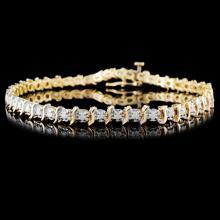 14K Yellow Gold 1.00ctw Diamond Bracelet