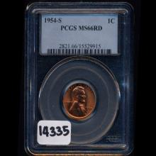 1954S Lincoln 1c Graded MS 66 RED