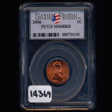 2006 Lincoln 1c Graded MS 68 RED