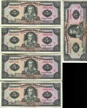 1988 Ecuador 5S Crisp Unc Note 10pcs Scarce Sequential