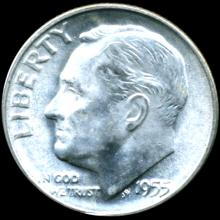 1955S FDR Silver 10c MS64/65 Full Bands