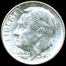1962 FDR 10c MS66/67