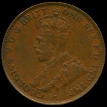 1935M Australia Large Penny Hi Grade AU55 BV $60
