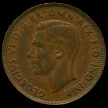 1941M Australia Large Penny Hi Grade AU+ BV $40