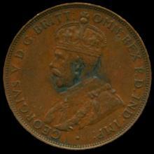 1934M Australia Large Penny Hi Grade AU58 BV $75