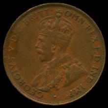 1935M Australia Large Penny Hi Grade XF BV $24