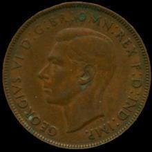 1939M Australia Large Penny Hi Grade XF BV $8