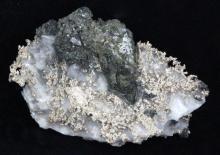 135ct RARE Natural Silver Crystal Cluster on Matrix