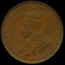 1935M Australia Large Penny Hi Grade AU58 BV $75