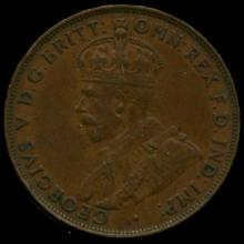 1923M Australia Large Penny Hi Grade AU55 BV $125
