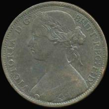 1863 British Victoria Penny AU