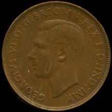 1948M Australia Large Penny Hi Grade AU BV $10