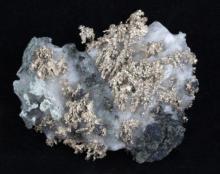 85ct RARE Natural Silver Crystal Cluster on Matrix