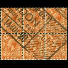 1916 Britain George VI 2p Stamp 6-Block
