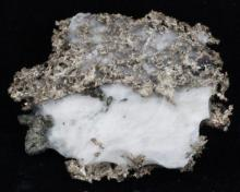 50ct RARE Natural Silver Crystal Cluster on Matrix