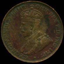 1934M Australia Large Penny Hi Grade XF BV $24