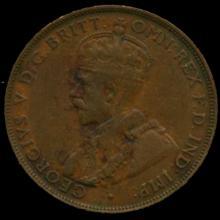 1922M Australia Large Penny Hi Grade XF BV $50