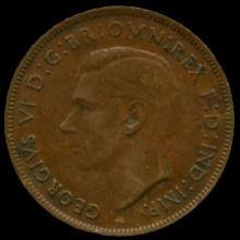 1941M Australia Large Penny Hi Grade XF BV $18