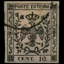1852 Modena 10c Stamp