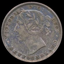 1882H Canada Newfoundland 20c XF/AU