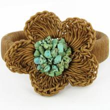 Crocheted Shell Bracelet