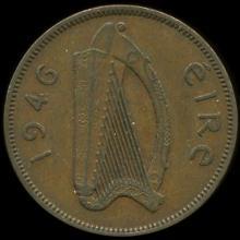 1946 Ireland 1/2p AU