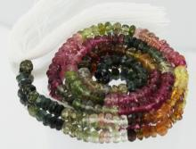 46.7ct Multi-color Tourmaline Faceted Bead Strand