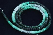 43.2ct Zambian Emerald Faceted Bead Strand