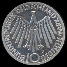 1972J Germany Silver 10 Mark PR68 DCAM
