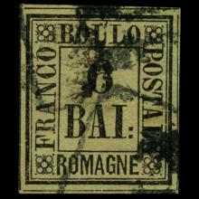 1859 Romagna 6b Stamp