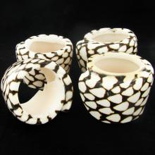 Handcrafted Shell Napkin Ring Set