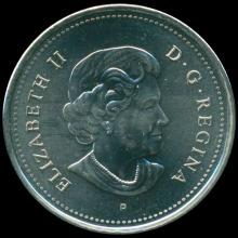 2004P Canada 25c Poppy NC MS 65/66