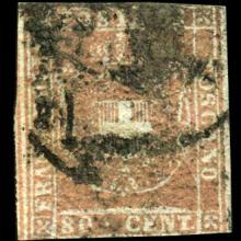 1860 Tuscany 80c Stamp
