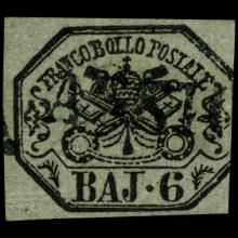 1852 Papal States 6b Stamp