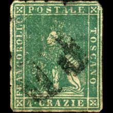 1851 Tuscany 4g Stamp