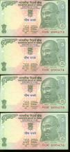 2002 India 5R Ghandi Crisp Unc 8pcs Scarce Sequential