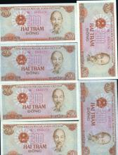 1987 Vietnam 200D Crisp Unc 10pcs Scarce Sequential