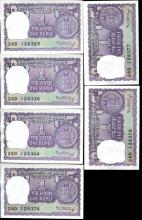 1976 India 1R Crisp Unc 12pcs Scarce Sequential