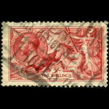 1919 Britain George VI 1/2 Crown Seahorses