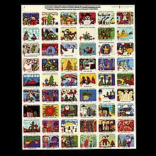 1980 Christmas Seals Full Sheet MINT NH