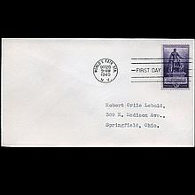 1940 US First Day Postal Cover