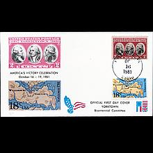 1981 US First Day Postal Cover Pair ERROR