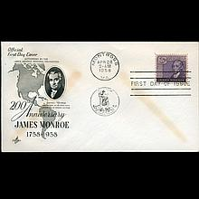 1958 US First Day Postal Cover